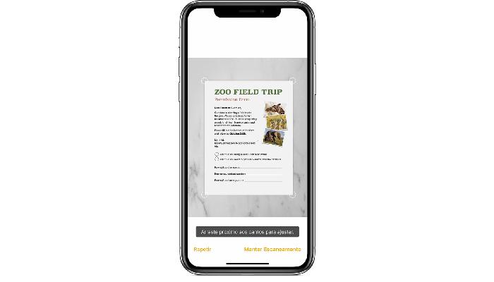 documento digitalizado iPhone notas/reprodução/apple