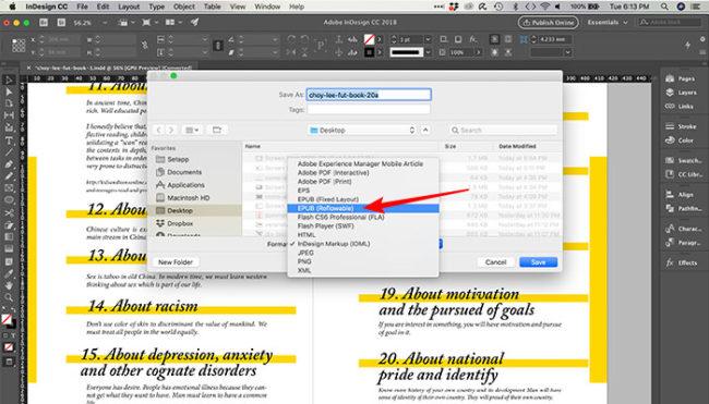 Como fazer um ebook no InDesign