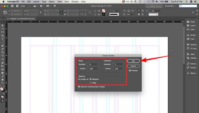 Como fazer grid no InDesign