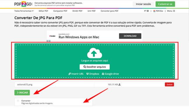 Como transformar uma foto em PDF