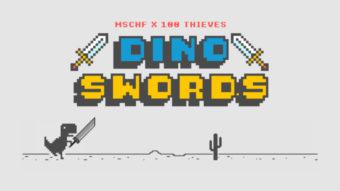 Jogo do dinossauro do Chrome ganha mod com espadas e mais