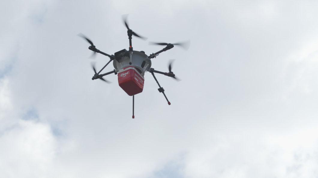Drone da Speedbird leva entregas do iFood (Imagem: divulgação/iFood)