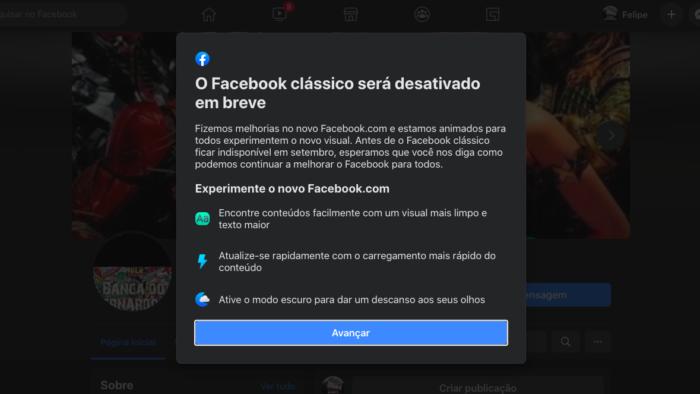 O Facebook clássico será desativado em breve