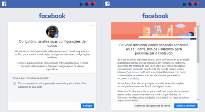 Facebook LGPD