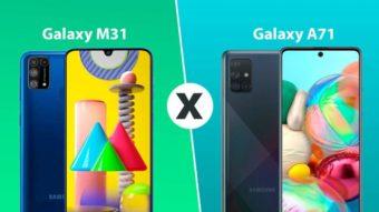 Galaxy M31 vs Galaxy A71; qual comprar?