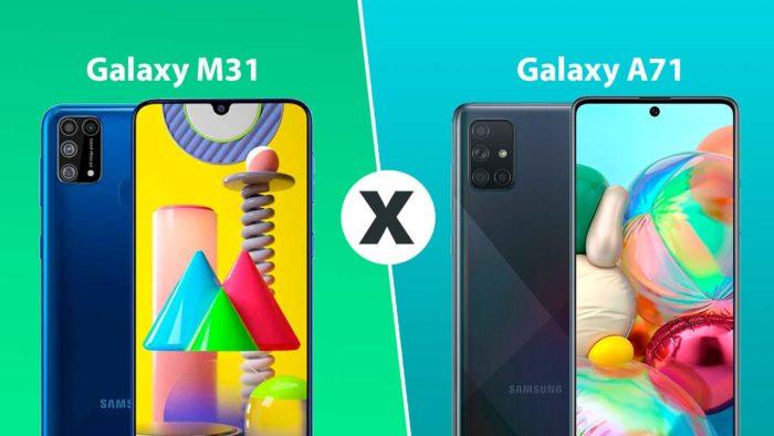 Comparativo Galaxy M31 e A71