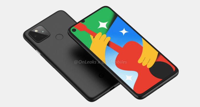 Possível Google Pixel 4a com 5G (Foto: Reprodução/OnLeaks/91Mobiles)