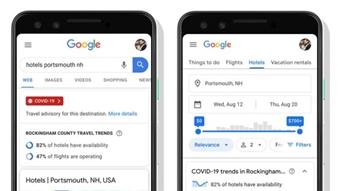 Google mostra dados de COVID-19 e reaberturas em busca de viagens