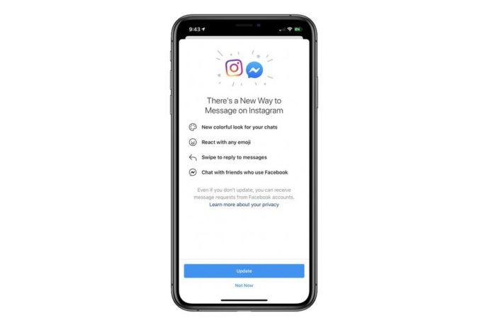 Instagram começa a integrar conversas do Facebook Messenger (Foto: Reprodução/The Verge)