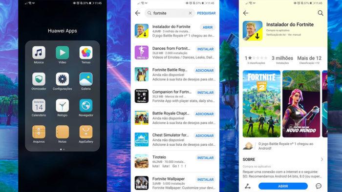 instalar Fortnite no Android / Reprodução / Felipe Vinha