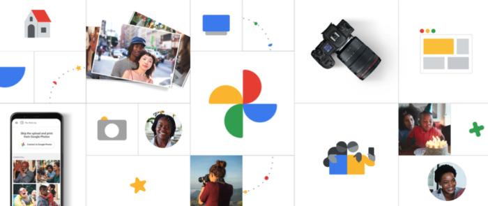 integracao google fotos e cameras canon