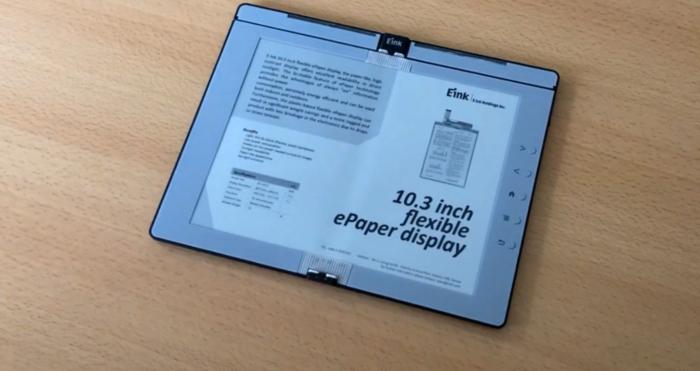 Protótipo de leitor de ebooks dobrável da E Ink (Foto: Reprodução/Good e-Reader)