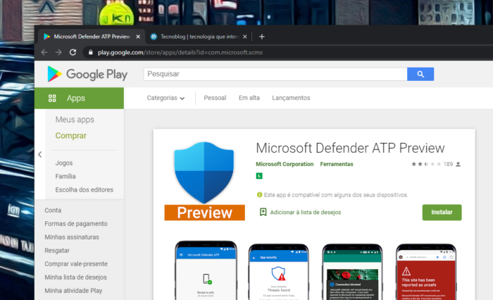 microsoft defender android play store