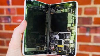 Fotos do Microsoft Surface Duo mostram como ele é por dentro