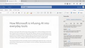 Microsoft Word transcreve gravações de áudio na versão web