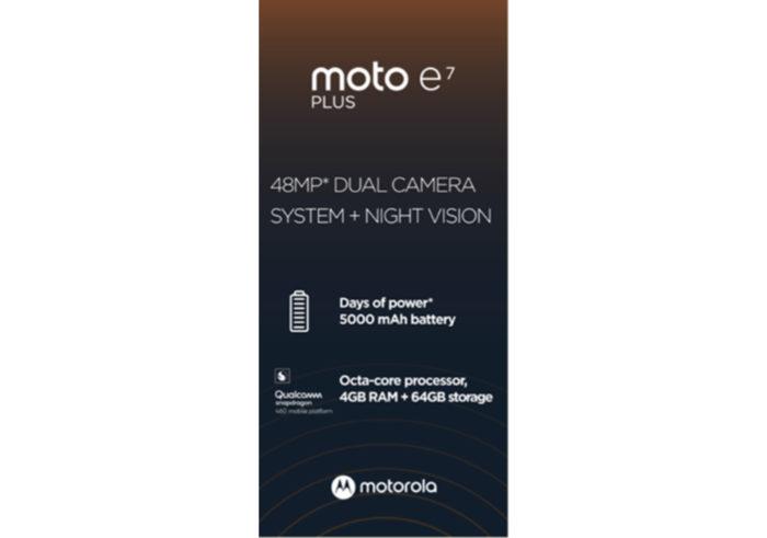 Poster do Moto E7 Plus (Foto: Reprodução/Twitter/Evan Blass)