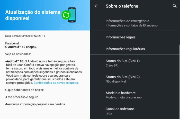 Motorola One Zoom recebe Android 10