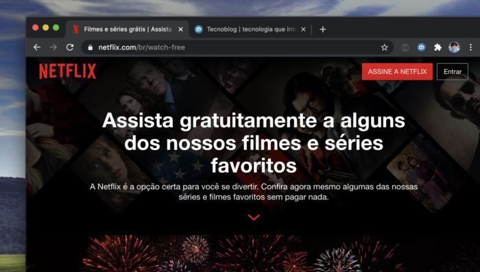Netflix de graça para quem não é assinante