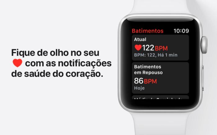 Notificações da saúde do coração com Apple Watch