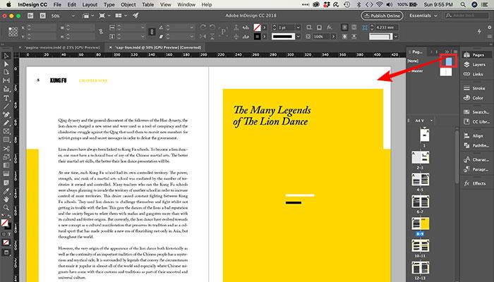 Como numerar páginas no InDesign
