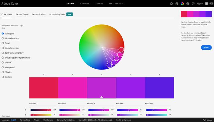 10 paletas de cores online