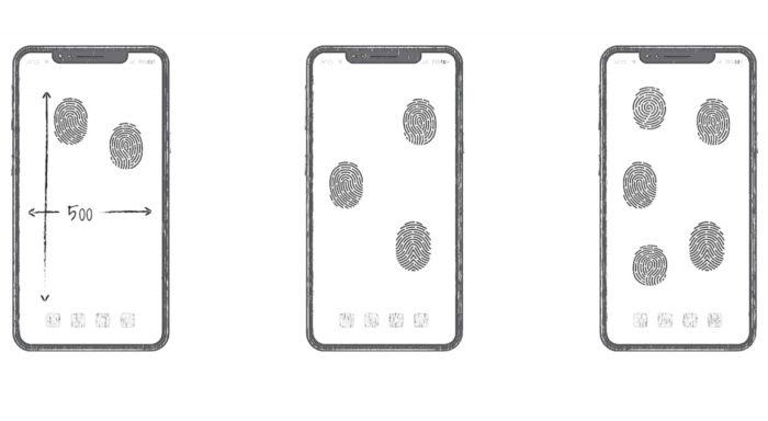 Patente da Huawei prevê leitor de digitais em toda a tela do celular (Foto: Reprodução/Huawei)