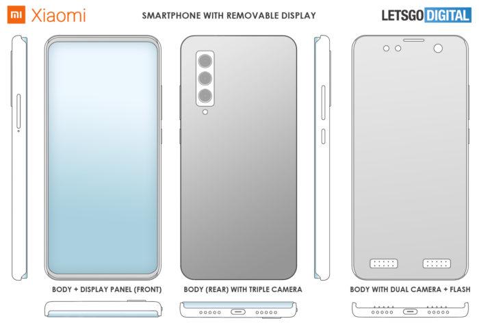 Xiaomi registra patente de celular modular com tela removível (Foto: Reprodução/LetsGoDigital)