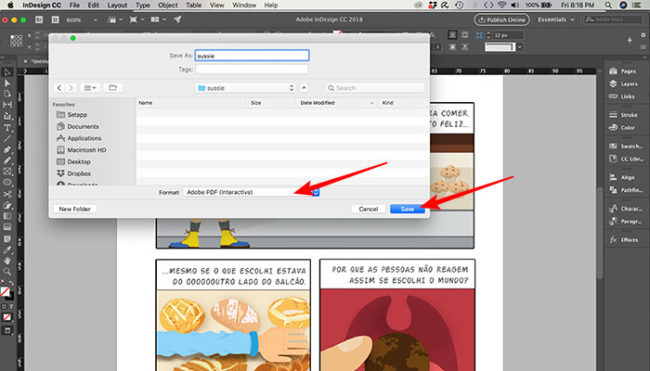 Como salvar .pdf interativo no InDesign