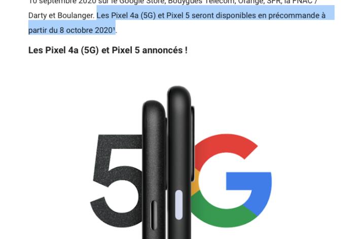 pixel 5 lancamento
