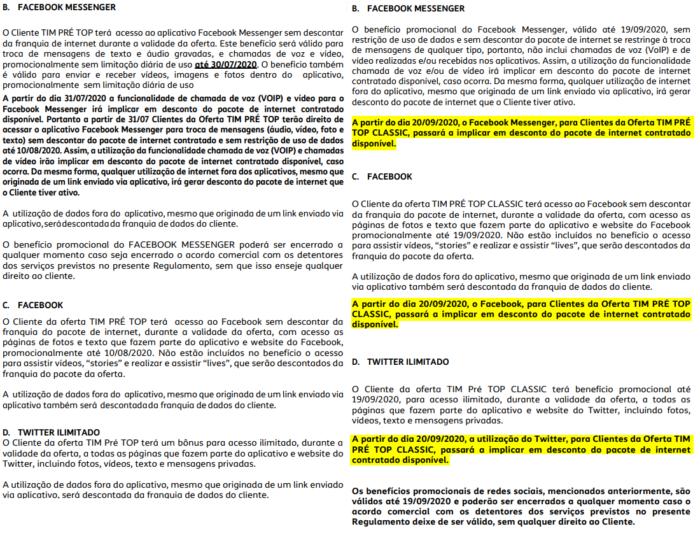Mudanças no regulamento do TIM Pré Top. Imagem: Lucas Braga/Tecnoblog