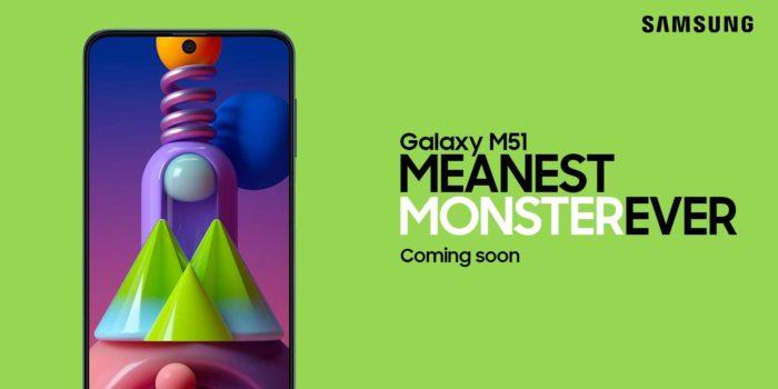 Teaser do Samsung Galaxy M51 na Amazon Índia (Foto: Reprodução/Gizmochina)