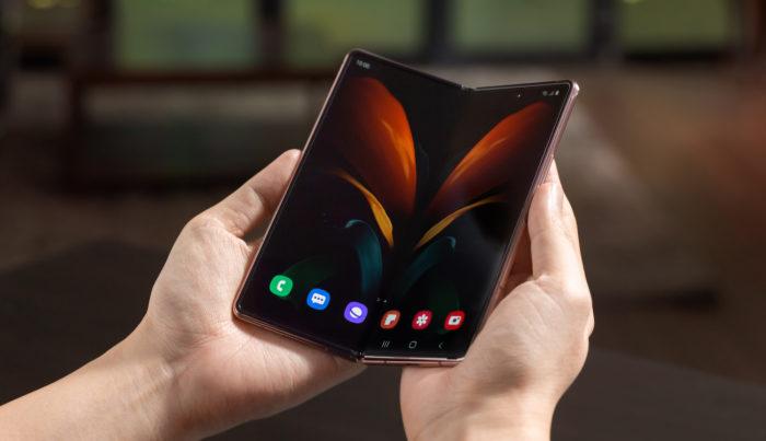 Samsung Galaxy Z Fold 2 sem Gorilla Glass