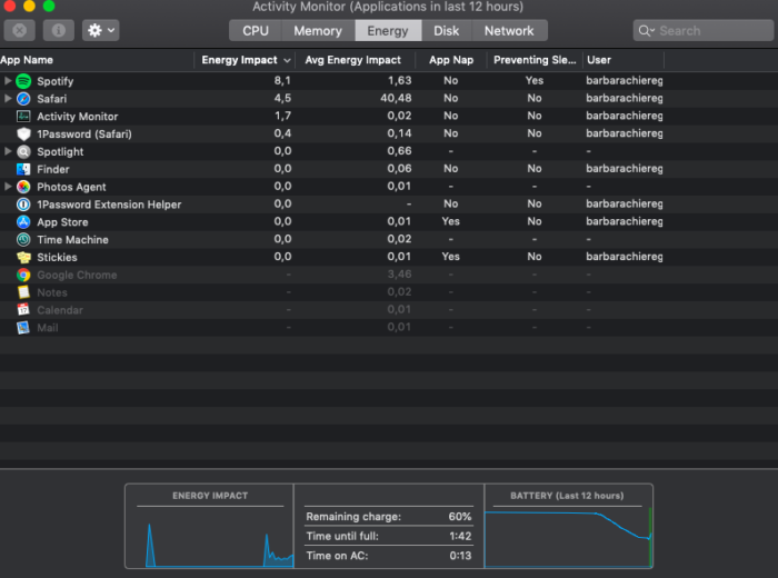 monitor de atividade mac/bárbara Chieregate