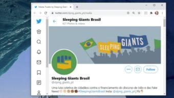 Juíza quer que Twitter revele dados de criadores do Sleeping Giants