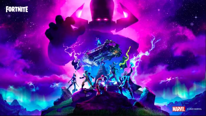 Temporada 4 de Fortnite traz heróis da Marvel contra Galactus / Divulgação / Epic Games