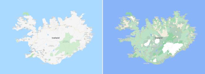google maps ganha novas cores para recursos naturais