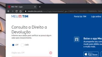 TIM lança site que mostra se você tem direito a ressarcimentos
