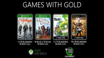 Xbox Live Gold de setembro tem The Division e mais jogos grátis