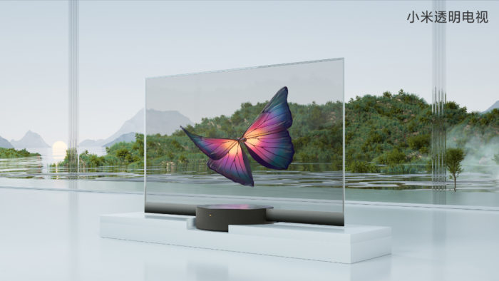 Xiaomi Mi TV LUX OLED Transparent Edition de lado