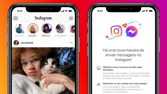 Instagram e Messenger (Imagem: Divulgação)
