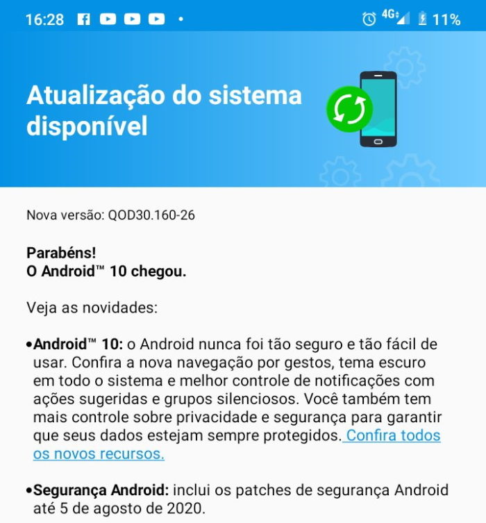 Android 10 para Moto G8 Power Lite