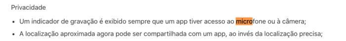 Novidades em Privacidade no iOS 14 Imagem: Reprodução / Apple