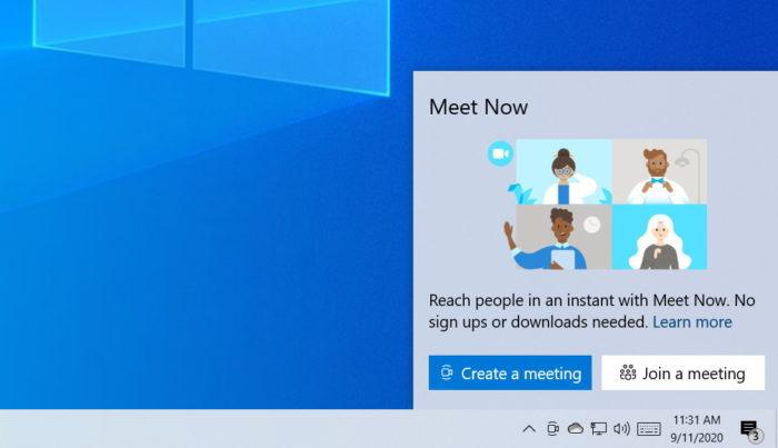 Windows 10 e Skype Meet Now