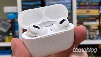 Apple atualiza AirPods Pro com suporte a áudio espacial