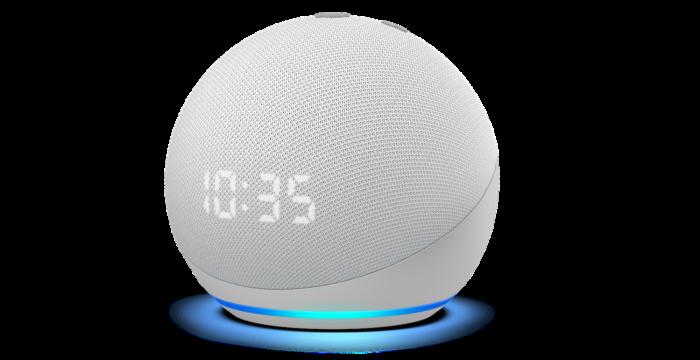 Amazon Echo Dot com relógio (Imagem: Divulgação/Amazon)