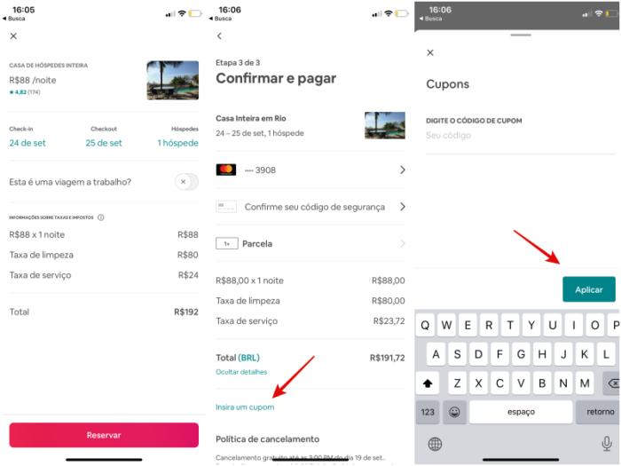 como aplicar credito airbnb/reprodução
