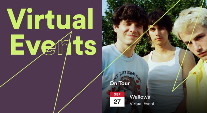 Eventos virtuais no Spotify