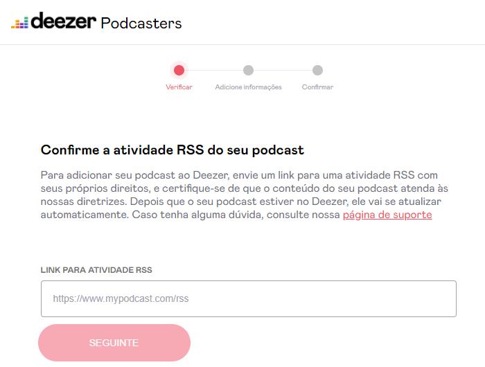 Como colocar podcast na Deezer/Reprodução