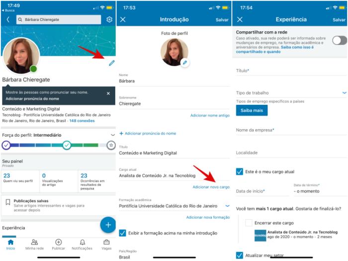 Como colocar promoção no Linkedin/Reprodução/Bárbara Chieregate
