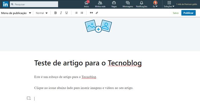 como publicar artigos no linkedin